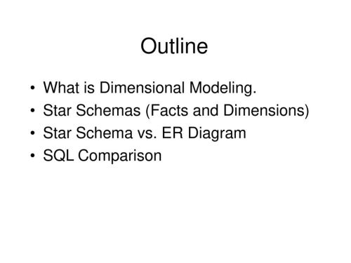 small resolution of 89 outline what is dimensional modeling star schemas