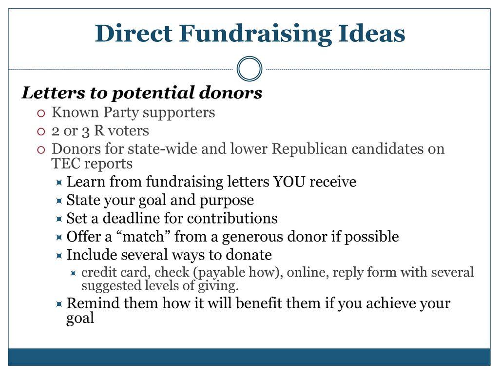 Direct Fundraising Ideas