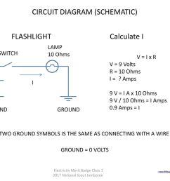 circuit diagram schematic flashlight calculate i [ 1024 x 768 Pixel ]