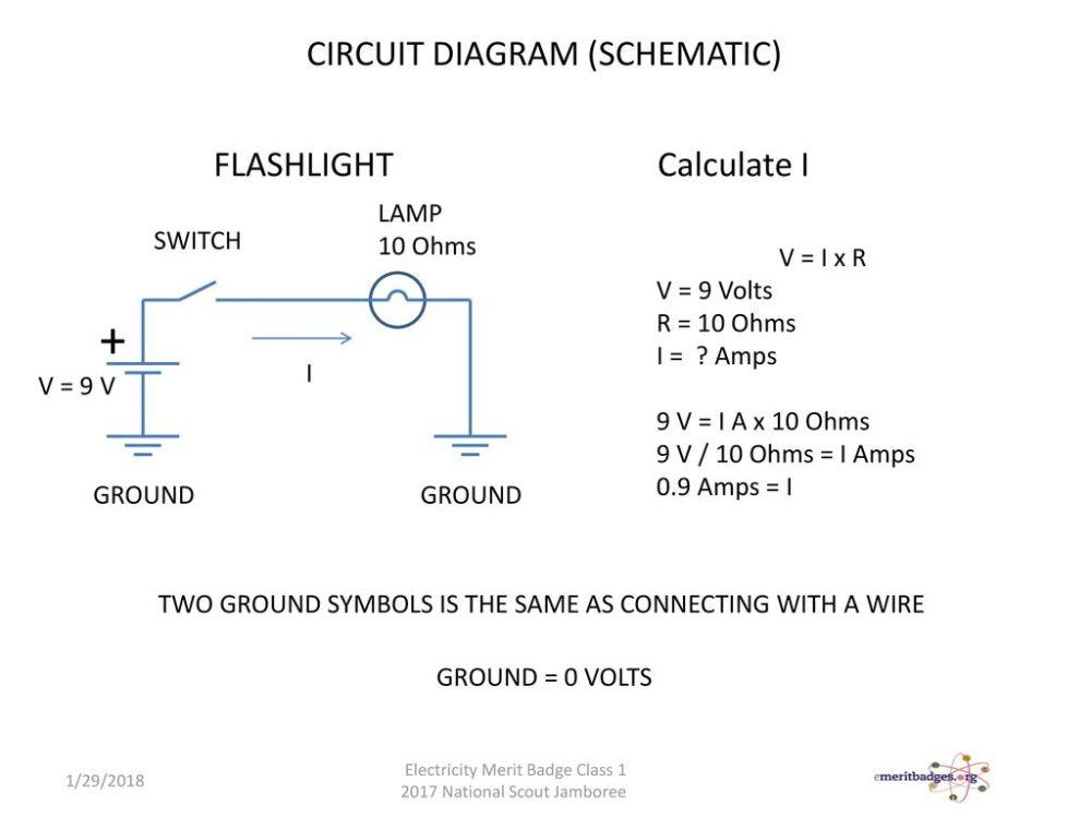 medium resolution of  circuit diagram schematic flashlight calculate i