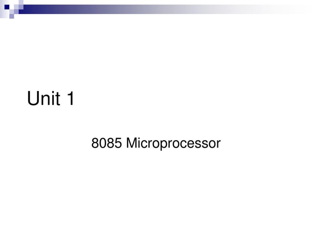 medium resolution of 1 unit 1 8085 microprocessor