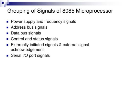 small resolution of grouping of signals of 8085 microprocessor