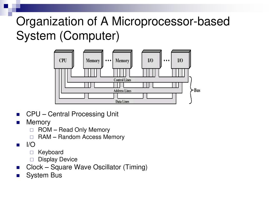hight resolution of organization of a microprocessor based system computer