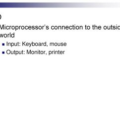 i o microprocessor s connection to the outside world [ 1024 x 768 Pixel ]