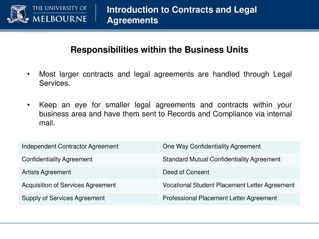 Introduction To Contracts And Legal Agreements