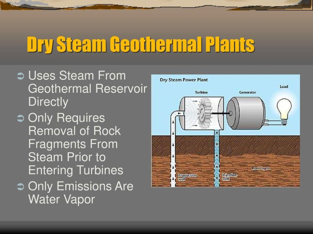 medium resolution of dry steam geothermal plants