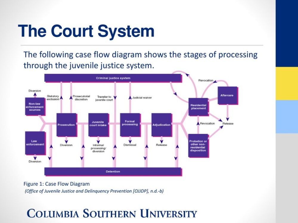 medium resolution of the court system the following case flow diagram shows the stages of processing through the juvenile