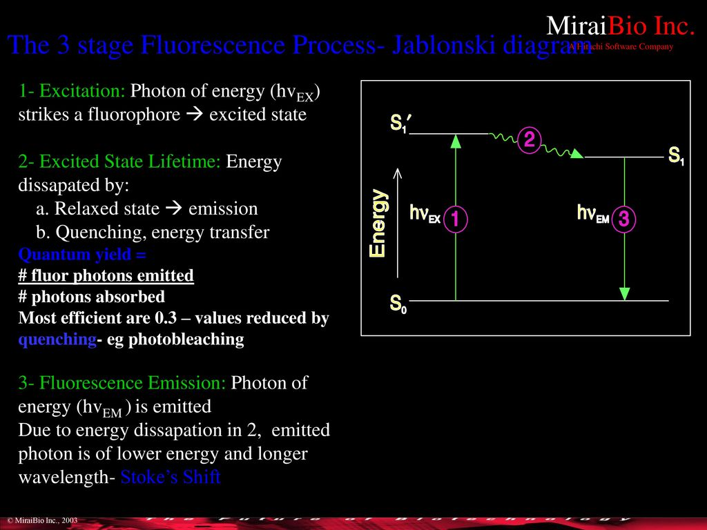 hight resolution of the 3 stage fluorescence process jablonski diagram