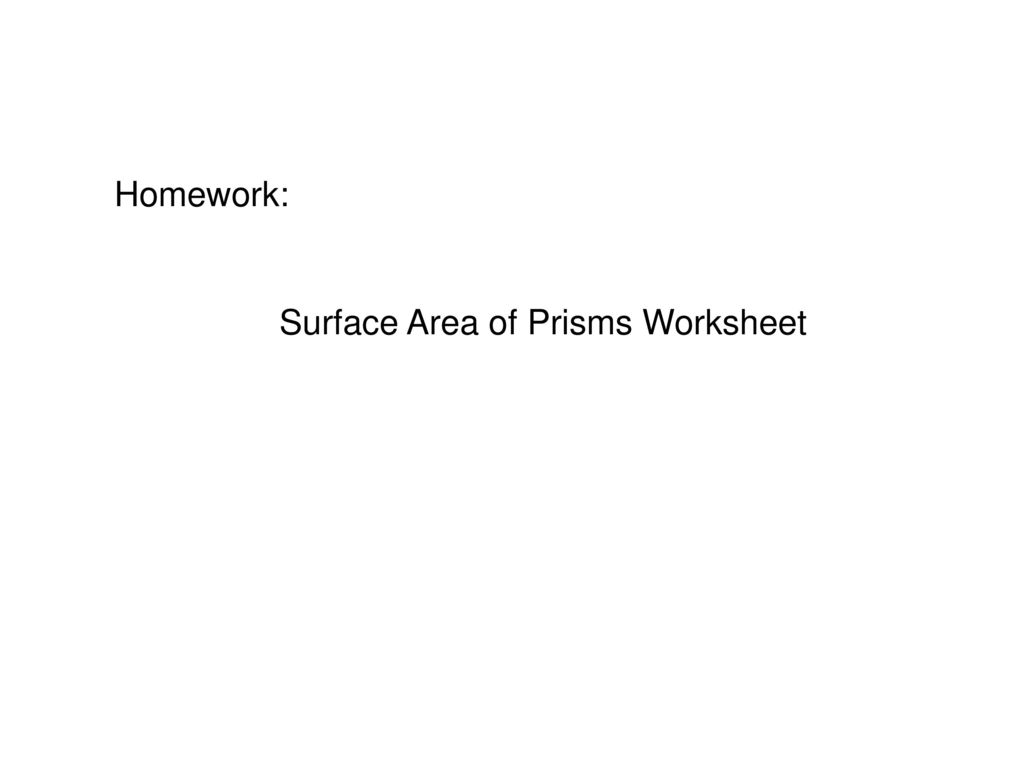 Surface Area And Volume Of