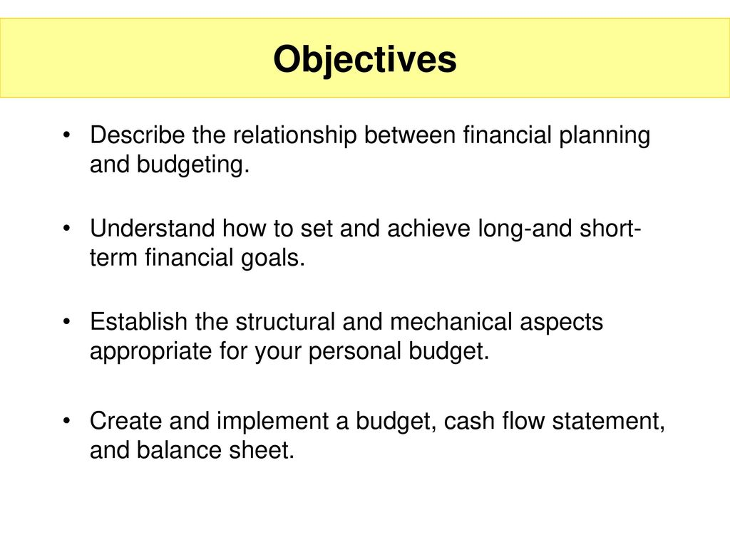 Budgeting and Cash Flow Management - ppt download