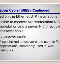 crossover cable 568b continued  [ 1024 x 768 Pixel ]
