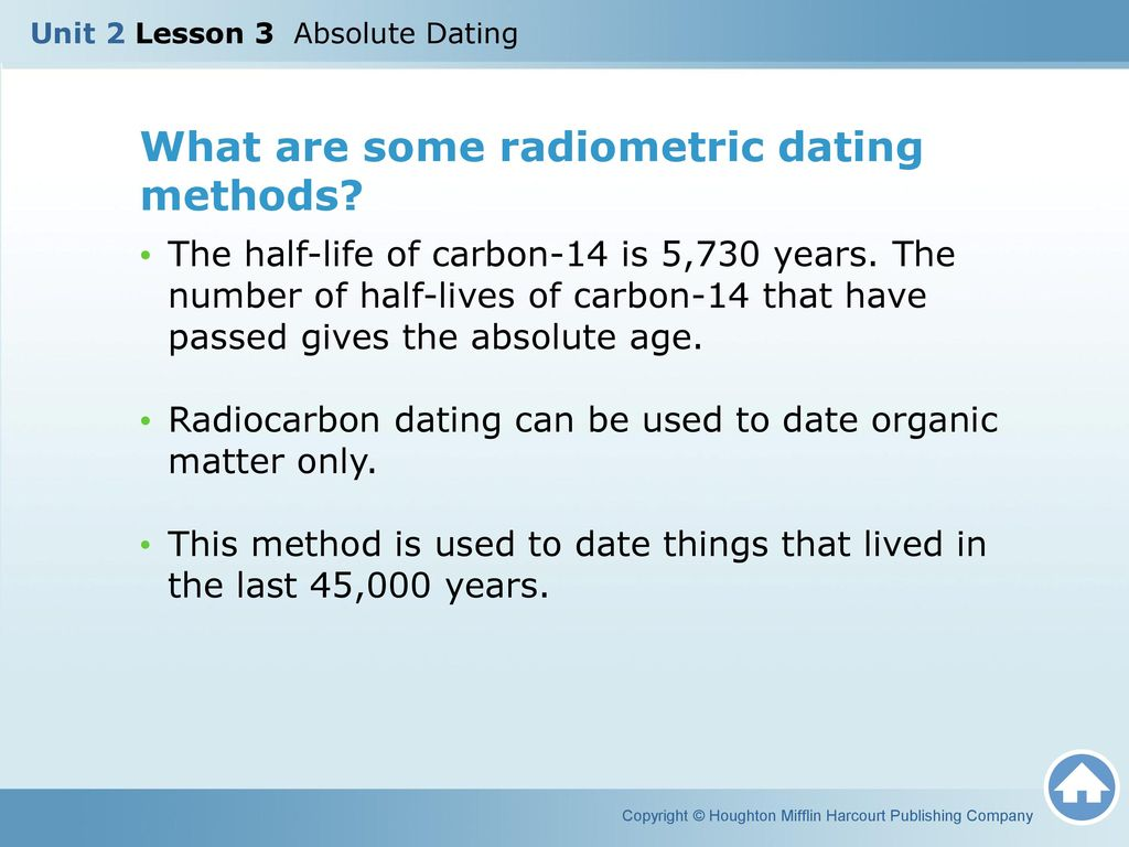 What Is A Radiometric Dating Method Used On Organic