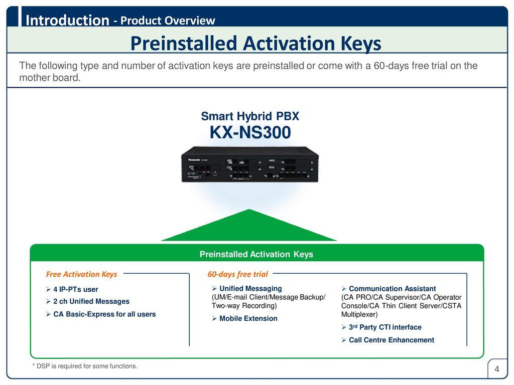 hight resolution of 4 preinstalled activation keys