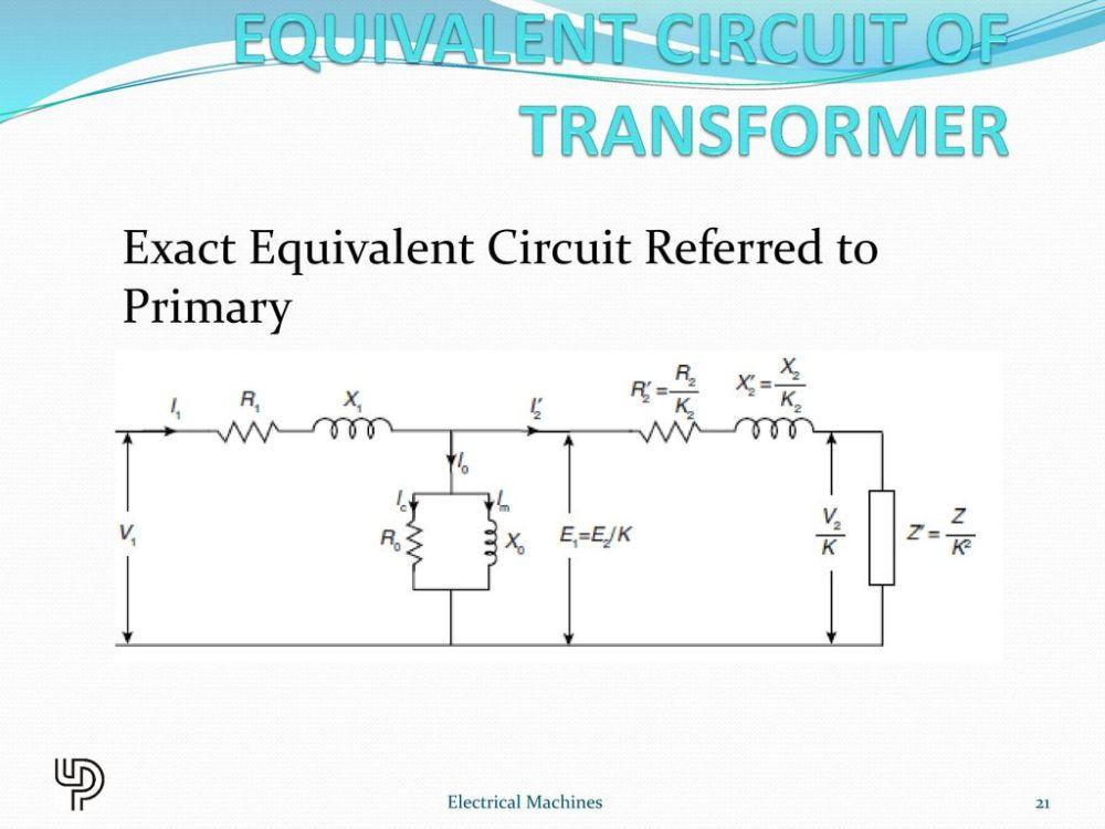 medium resolution of equivalent circuit of transformer