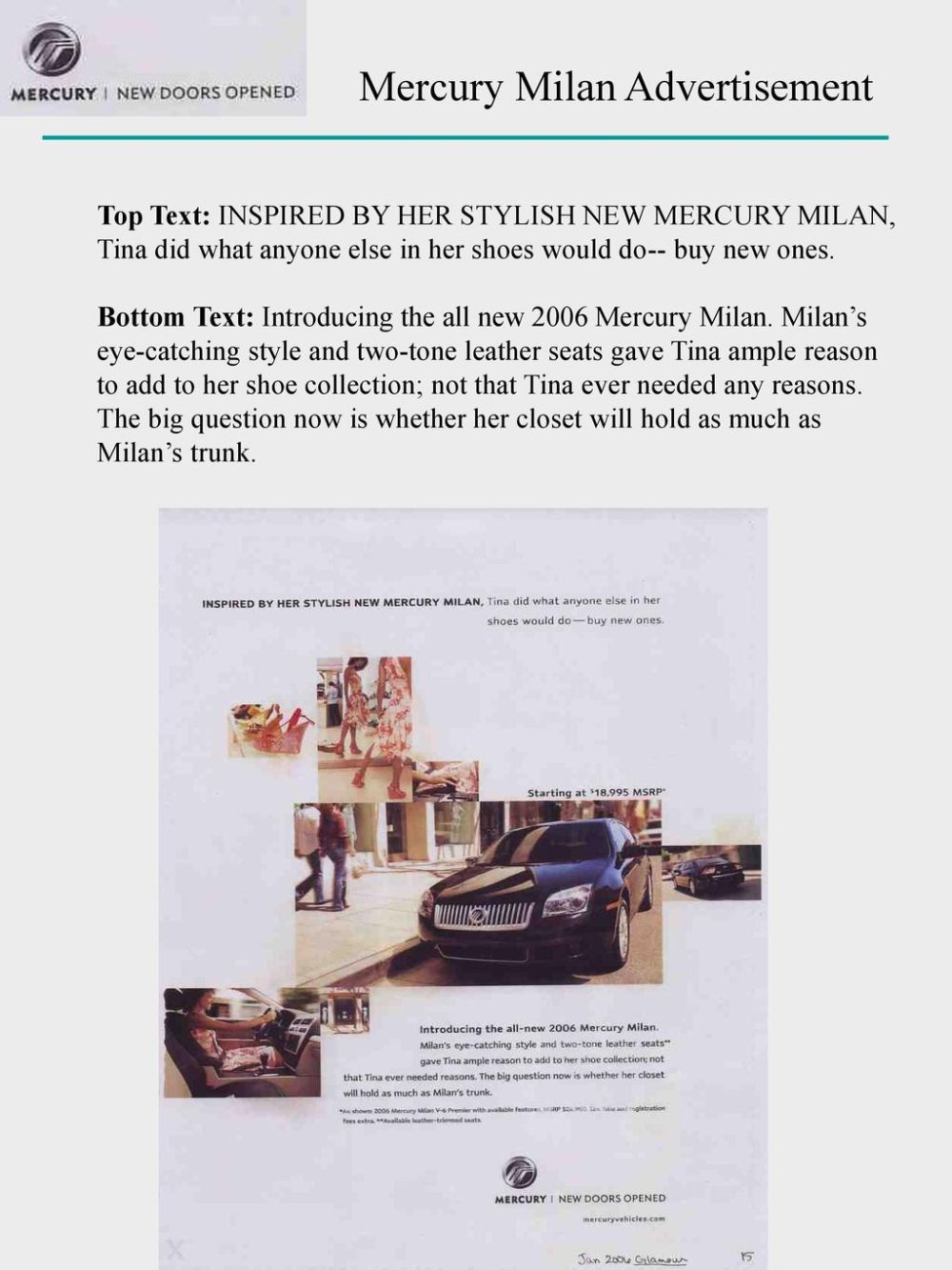 medium resolution of mercury milan advertisement