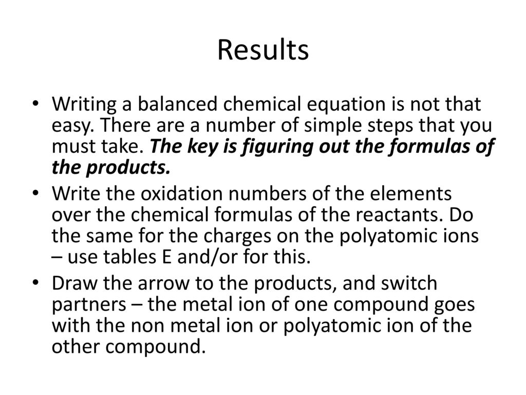 The Solubility Rules