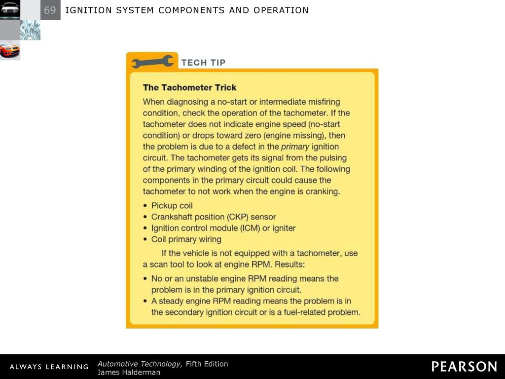 hight resolution of 11 tech tip the tachometer trick when diagnosing a no start or intermediate misfiring condition check the operation of the tachometer