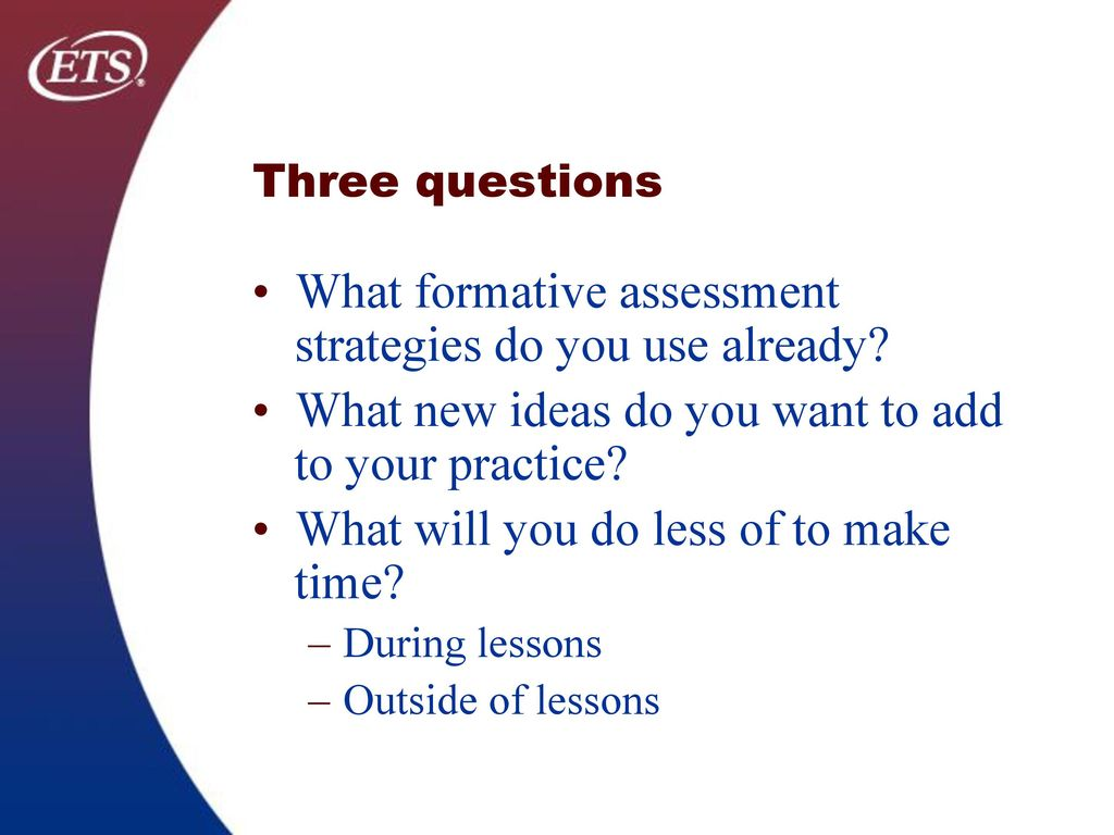 What Formative Assessment Strategies Do You Use Already