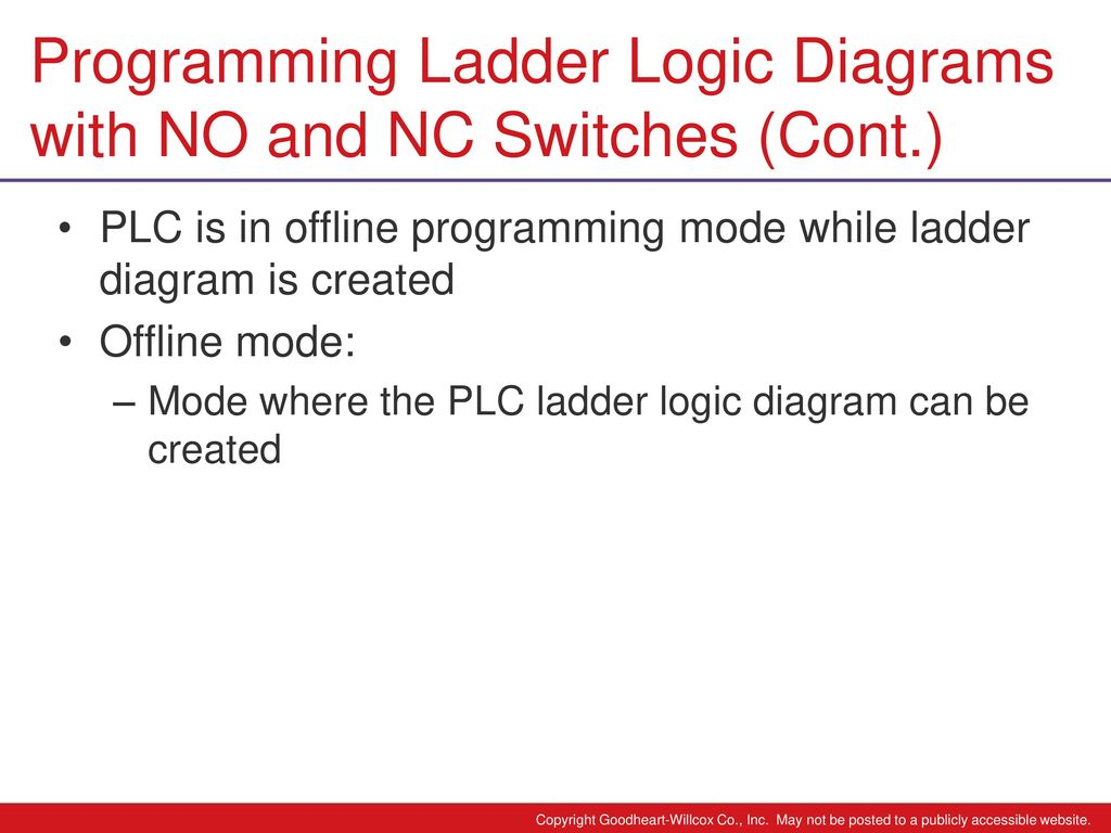 hight resolution of programming ladder logic diagrams with no and nc switches cont