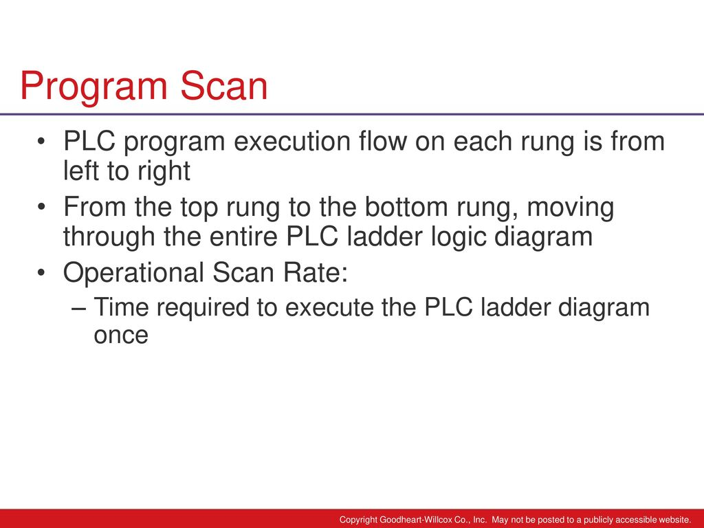 hight resolution of program scan plc program execution flow on each rung is from left to right