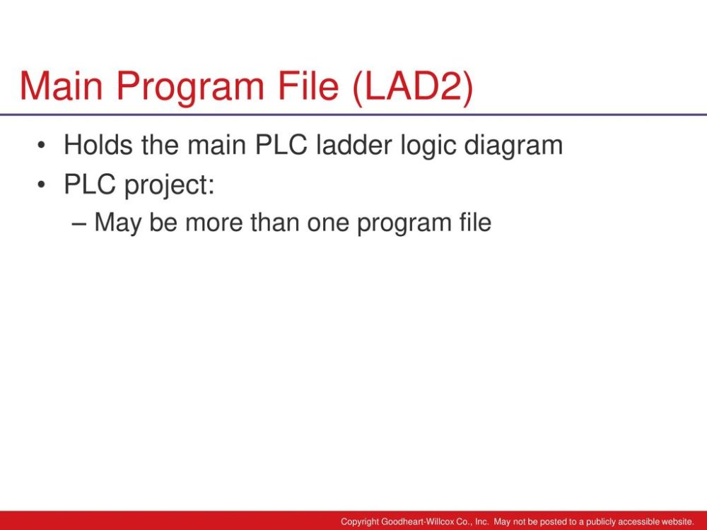 medium resolution of 24 main program file lad2 holds the main plc ladder logic diagram