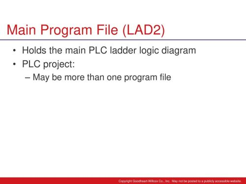 small resolution of 24 main program file lad2 holds the main plc ladder logic diagram
