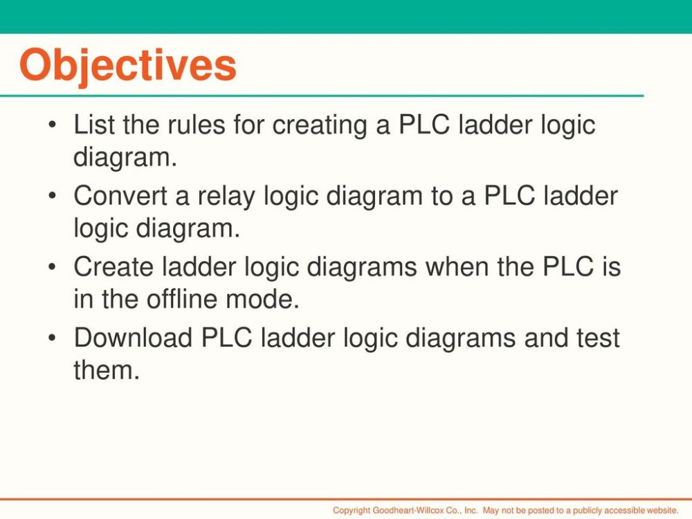 medium resolution of objectives list the rules for creating a plc ladder logic diagram