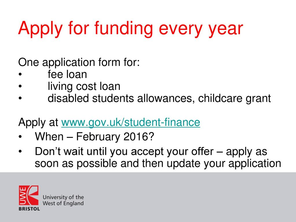 Apply For Funding Every Year