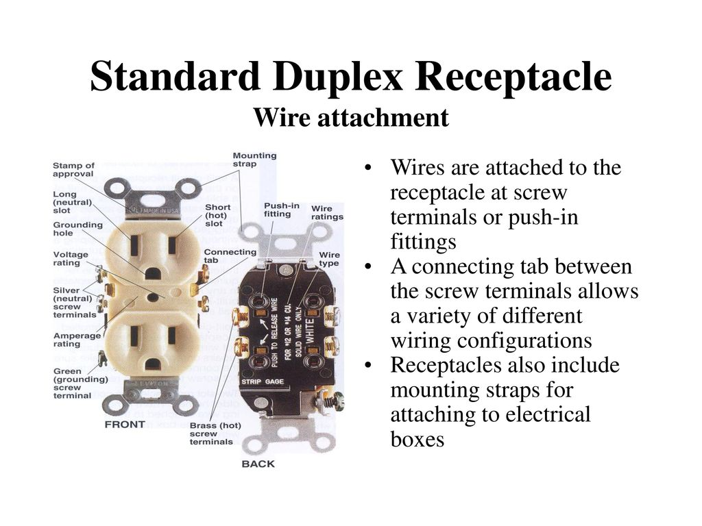 hight resolution of electrical receptacles ppt download standard receptacle wiring