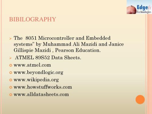 small resolution of bibilography the 8051 microcontroller and embedded systems by muhammad ali mazidi and janice gillispie mazidi