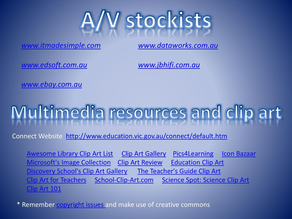 hight resolution of 10 multimedia resources
