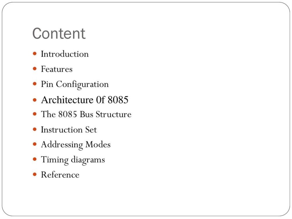 medium resolution of content introduction features pin configuration architecture 0f 8085