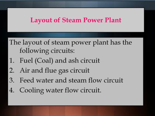 small resolution of layout of steam power plant