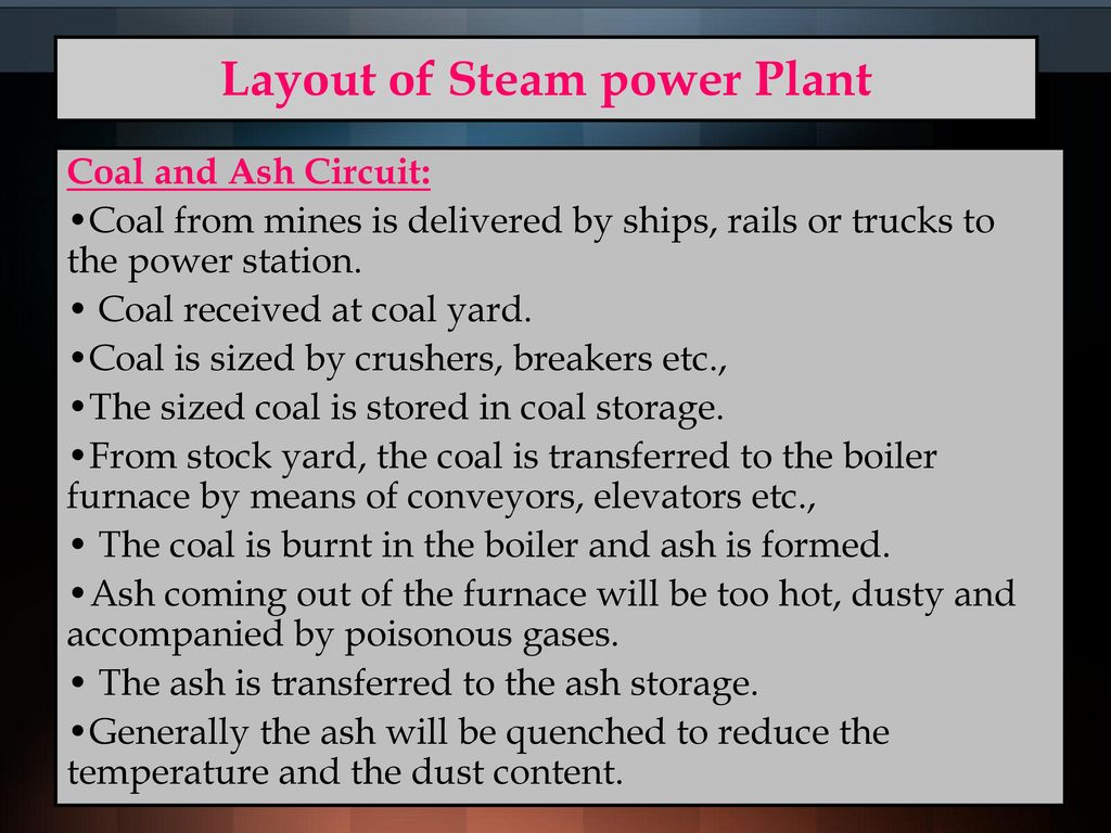 hight resolution of layout of steam power plant