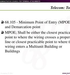 minimum point of entry mpoe and demarcation point [ 1024 x 768 Pixel ]