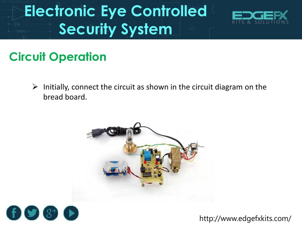 hight resolution of electronic eye controlled security system