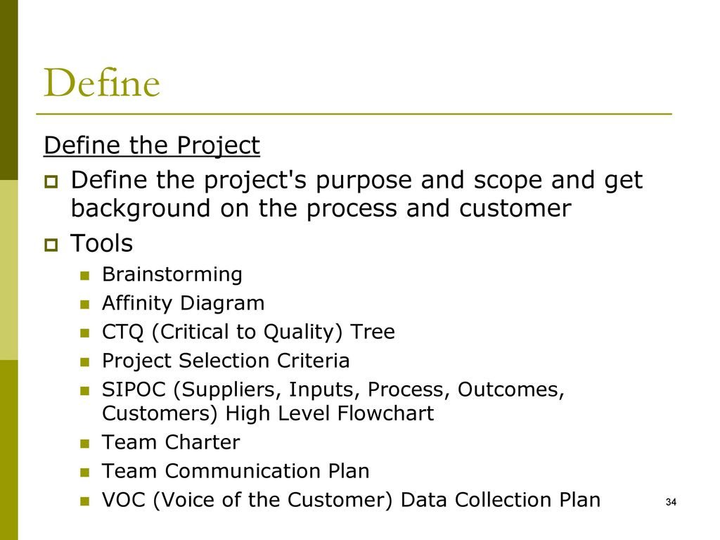 hight resolution of define define the project