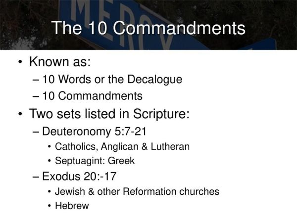 10 commandments 603 mitzvot # 1