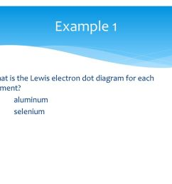 example 1 what is the lewis electron dot diagram for each element 1 aluminum 2 [ 1024 x 768 Pixel ]