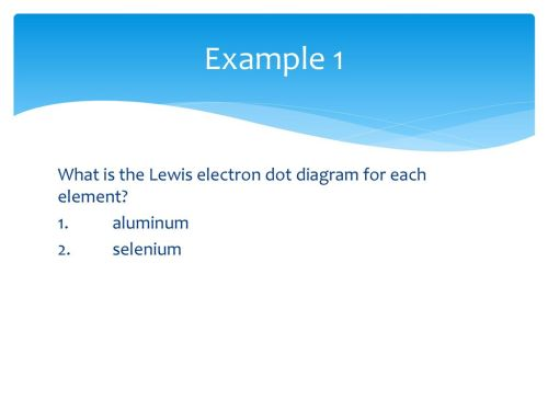 small resolution of example 1 what is the lewis electron dot diagram for each element 1 aluminum 2