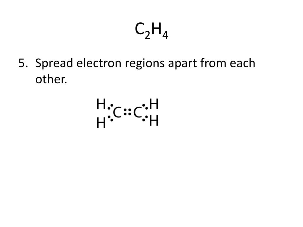 hight resolution of 16 c2h4 spread electron regions apart from each other