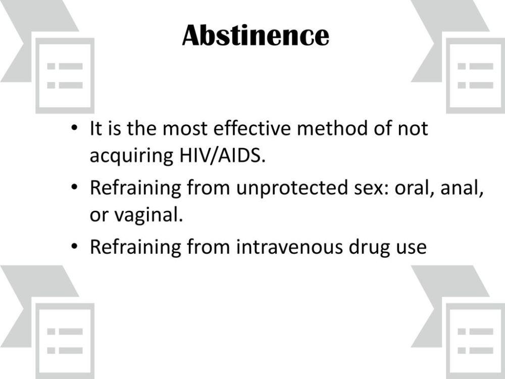 medium resolution of abstinence it is the most effective method of not acquiring hiv aids