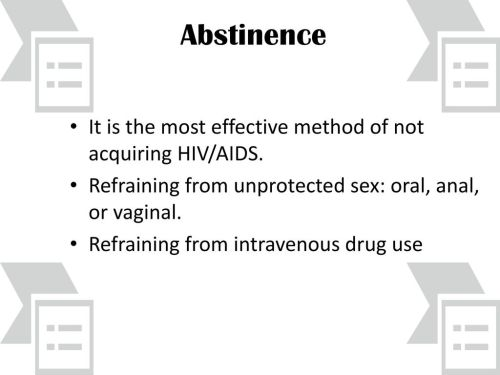 small resolution of abstinence it is the most effective method of not acquiring hiv aids