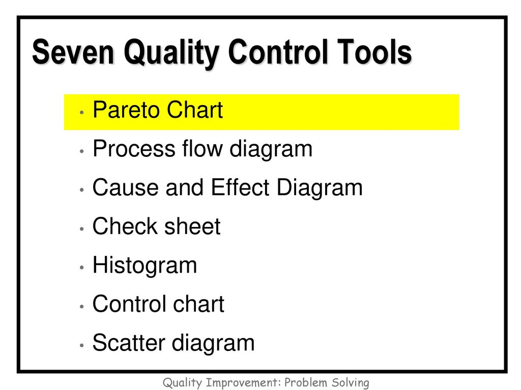hight resolution of seven quality control tools