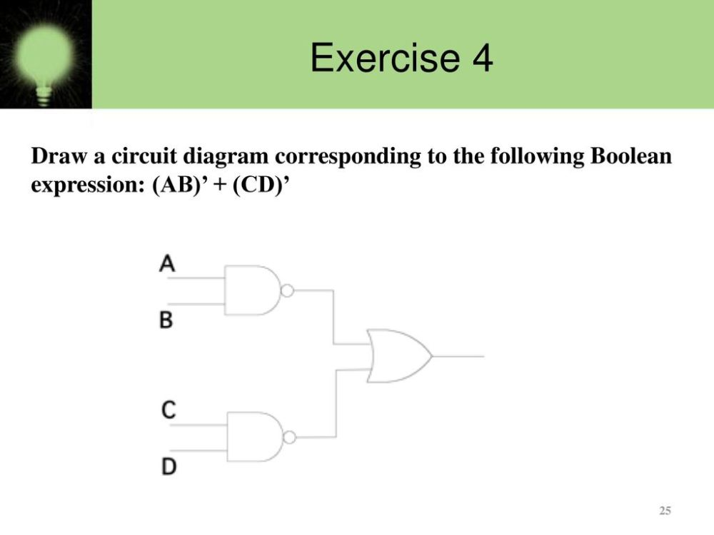 medium resolution of 25 exercise 4 draw a circuit diagram corresponding to the following boolean expression ab cd