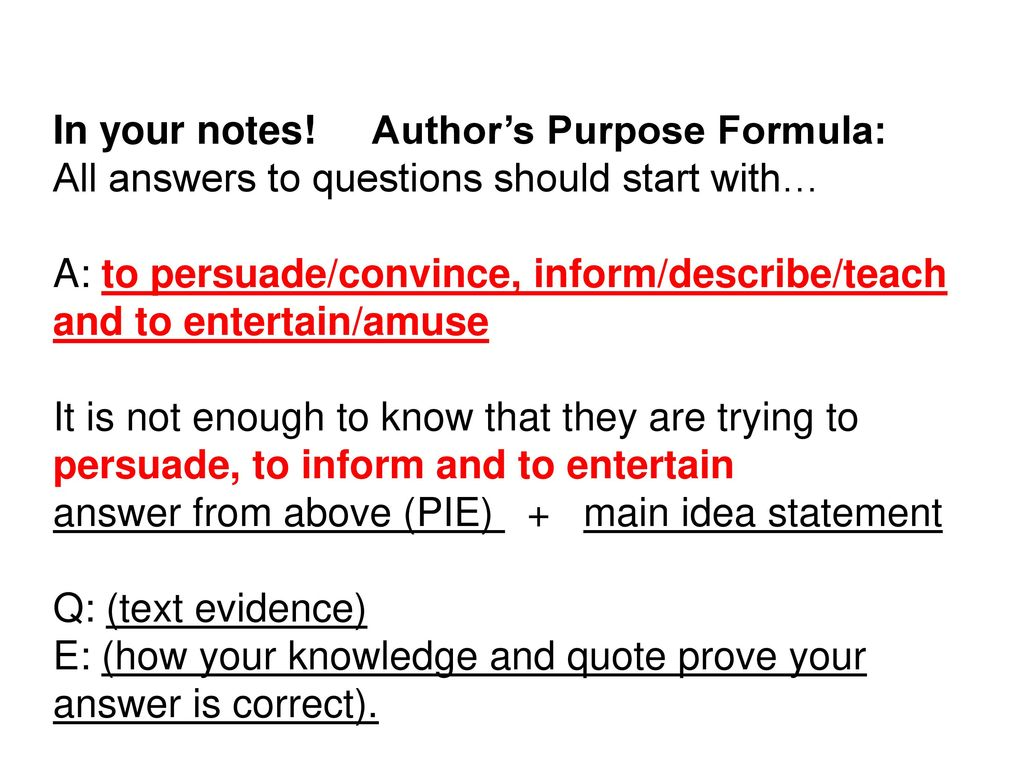 hight resolution of Author's Purpose. - ppt download