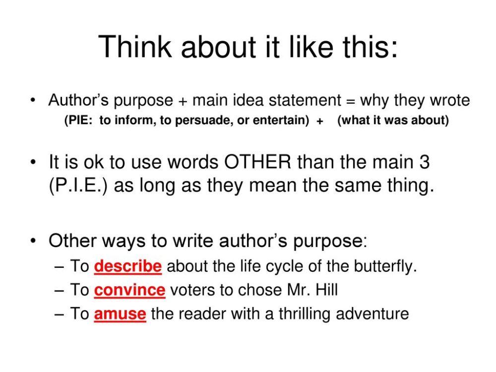 medium resolution of Author's Purpose. - ppt download