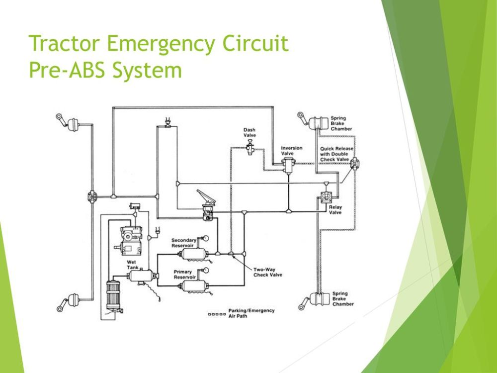 medium resolution of 13 tractor emergency circuit pre abs system