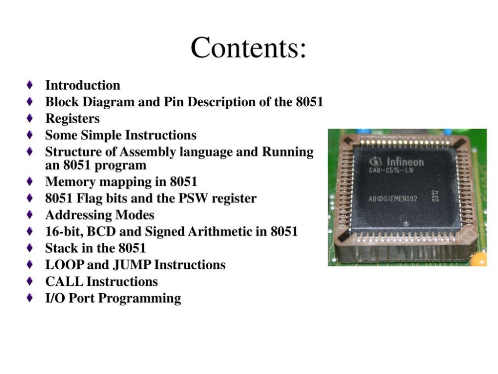 medium resolution of contents introduction block diagram and pin description of the 8051