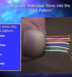 align the individual wires into the 568a pattern [ 1024 x 768 Pixel ]